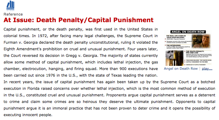 an analysis of the american methods of punishment and the death penalty in the law The case of an analysis of the american methods of punishment and the death penalty in the law dzhokhar tsarnaev absorbed americans as no death-penalty drama has in years.